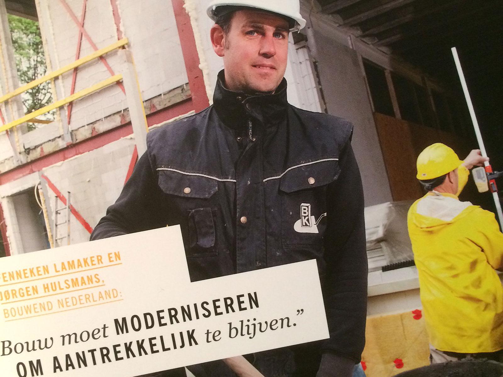 Journalistiek magazine voor bouwbranche